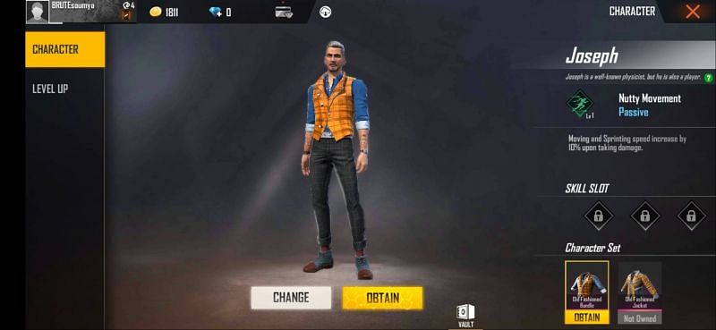 Joseph in Garena Free Fire