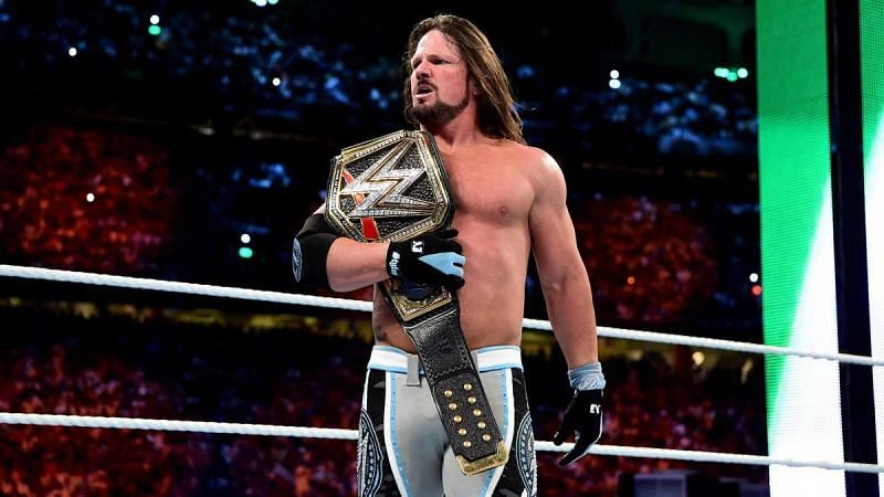Both Styles and Nakamura are counted out, thus The Phenomenal One retains the WWE Championship.