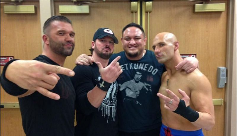 Frankie Kazarian, AJ Styles, Samoa Joe, and Christopher Daniels