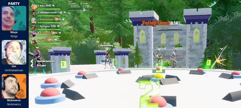 Streamers play Among Us-themed LTM in Fortnite (Image via Ninja)