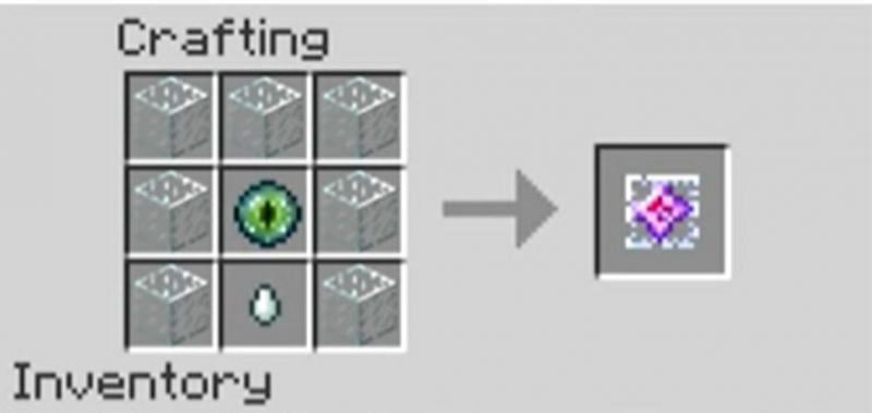 The crafting recipe for an end crystal in Minecraft (Image via Minecraft)