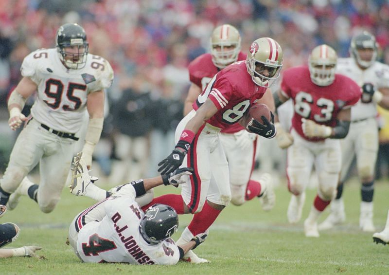 Jerry Rice with the San Francisco 49ers
