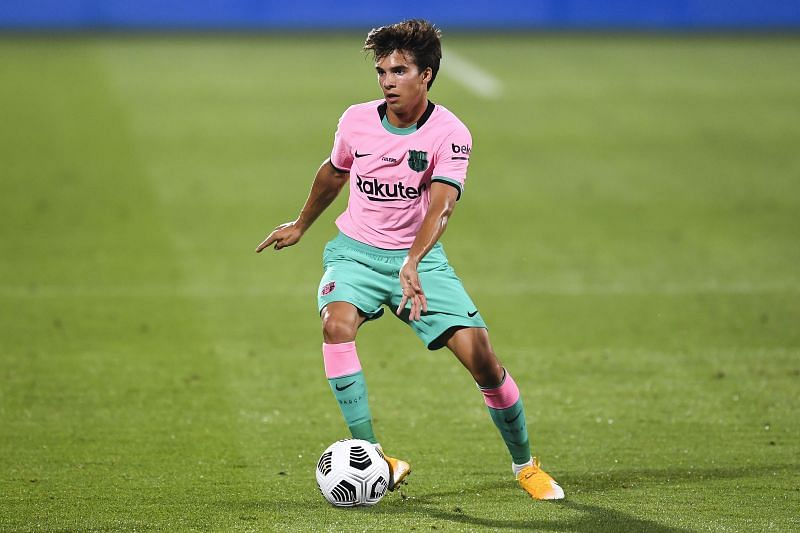 Riqui Puig in action for Barcelona