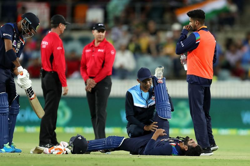 Australia v India - Ravindra Jadeja was replaced by Yuzvendra Chahal after suffering an injury