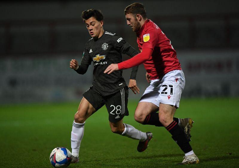 Facundo Pellistri (right) of Manchester United