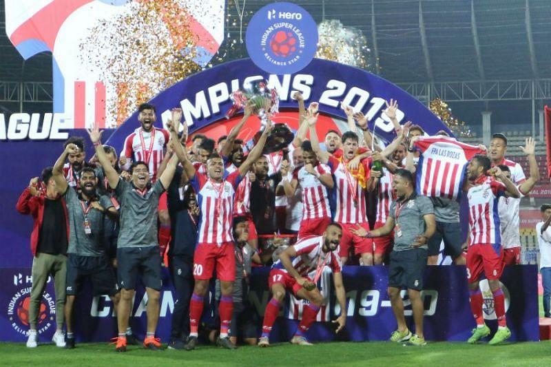 ATK celebrate their ISL 2019-20 win (Image courtesy: ISL)