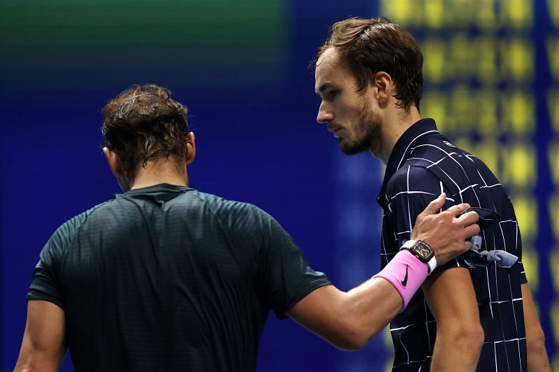 Rafael Nadal after going down to Daniil Medvedev at the ATP Finals in London