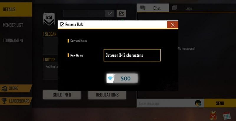 How to change the name of the guilds in Free Fire?