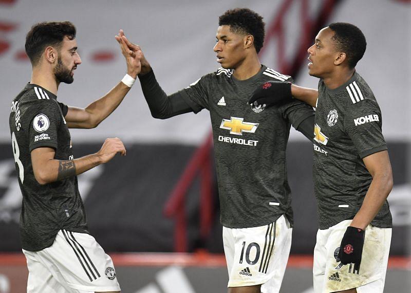 Manchester United beat Sheffield United 3-1.