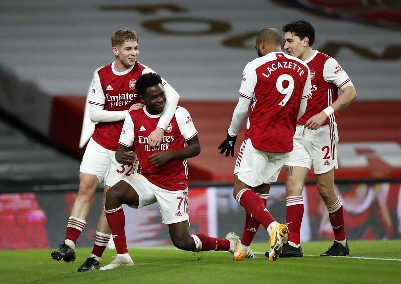 Bukayo Saka and Emile Smith Rowe were instrumental in Arsenal