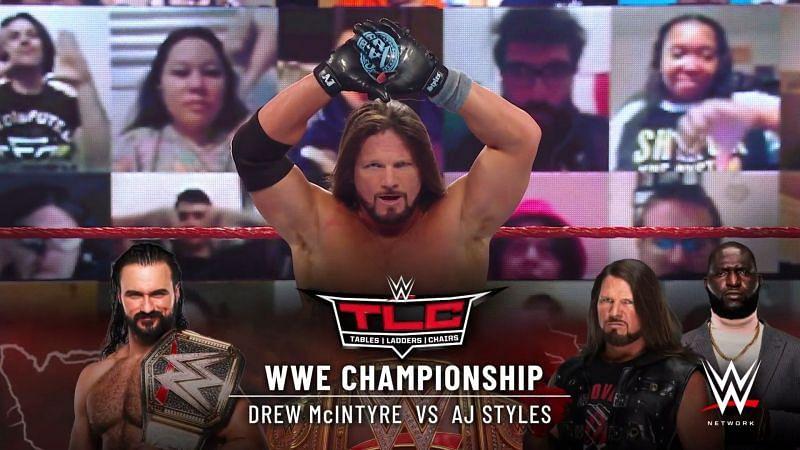 एजे स्टाइल्स का WWE TLC में ड्रू मैकइंटायर से मुकाबला होगा