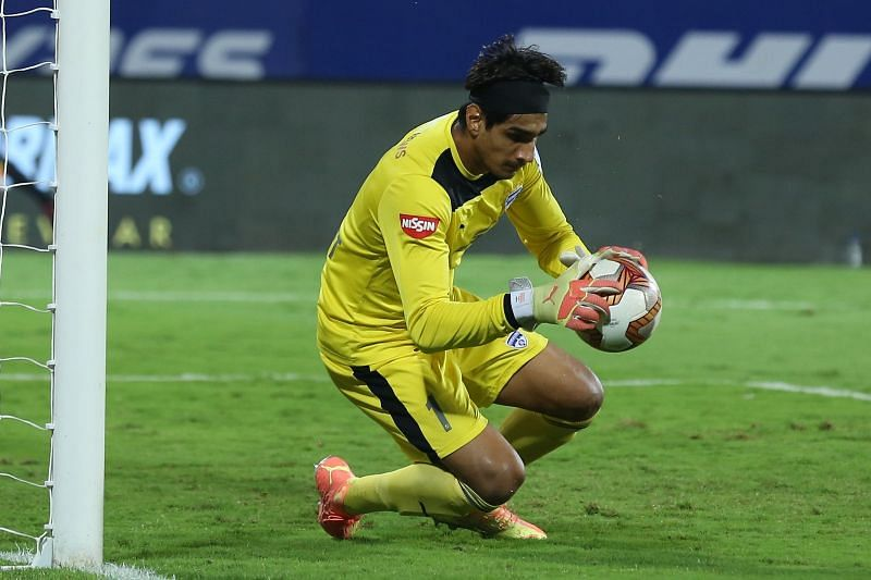 Gurpreet Singh Sandhu has kept two clean sheets from three games this season (Image courtesy: ISL)