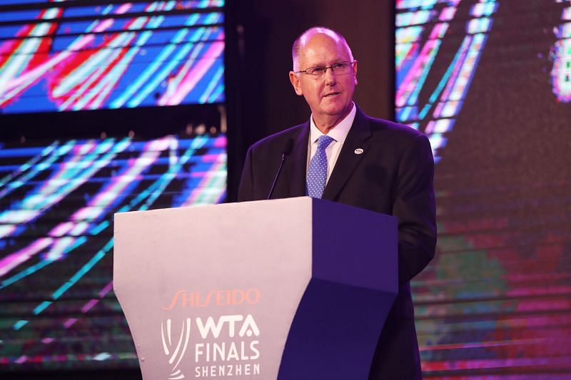 WTA CEO Steve Simon at the 2019 WTA Finals in Shenzhen