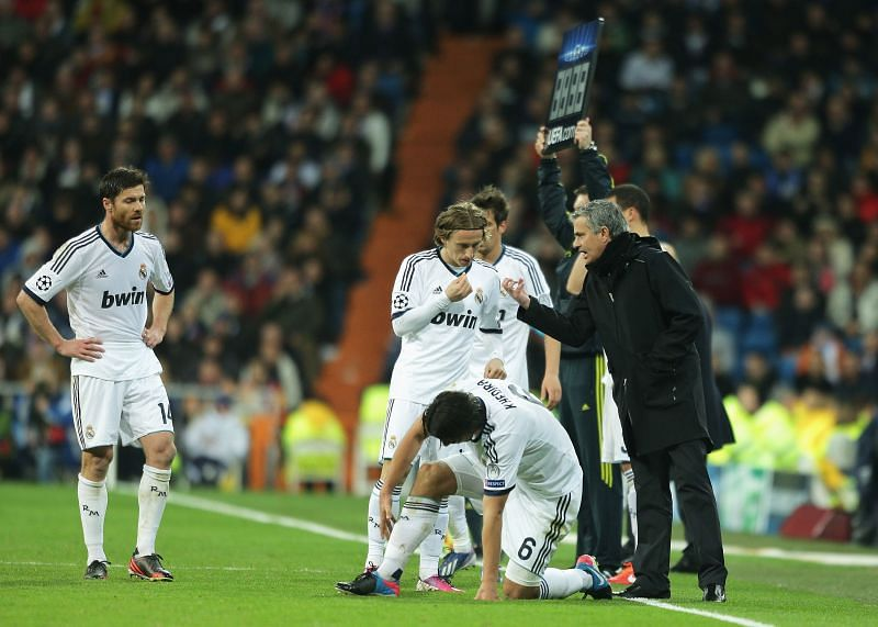 Real Madrid star Modric and former manager Mourinho