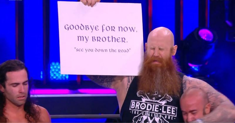 Erick Redbeard appeared on AEW Dynamite: Brodie Lee Celebration of Life.