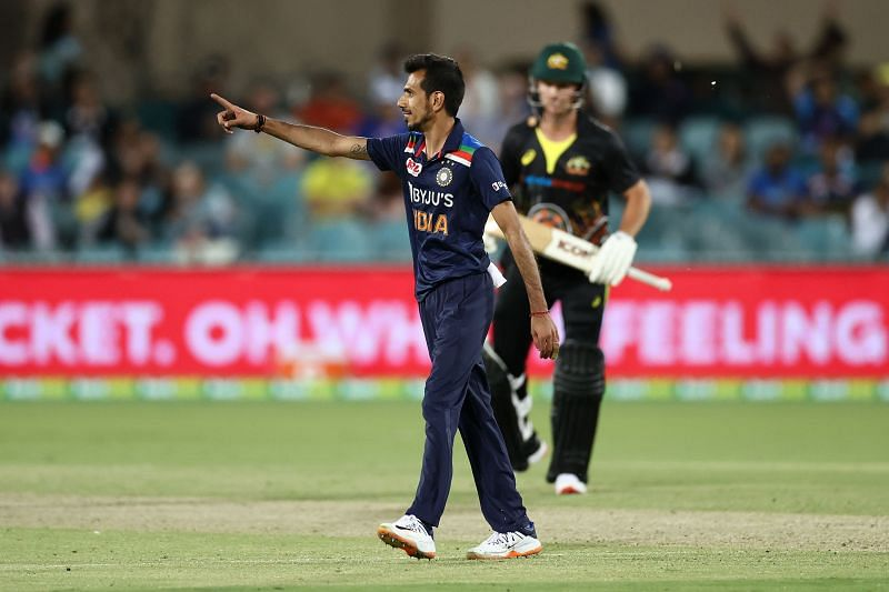Yuzvendra Chahal took the field as a concussion substitute for Ravindra Jadeja