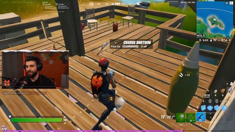 The charge shotgun was found after defeating an NPC (Image via SypherPK)