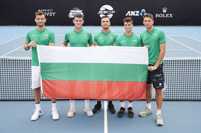 Grigor Dimitrov with his Bulgarian teammates