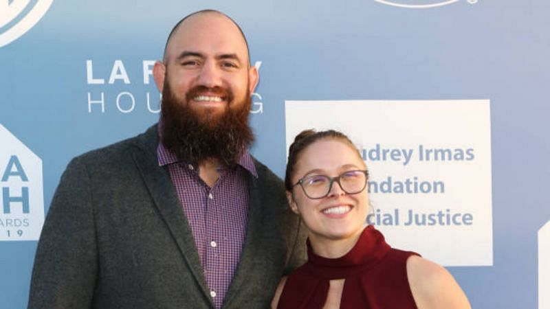 Travis Browne with Ronda Rousey