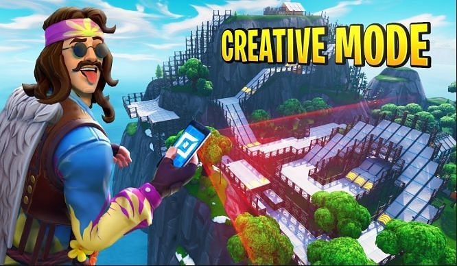 The creative mode in Fortnite lets players create custom maps and game modes for the entire community to enjoy outside the regular Fortnite game mode. (Image via Epic Games)