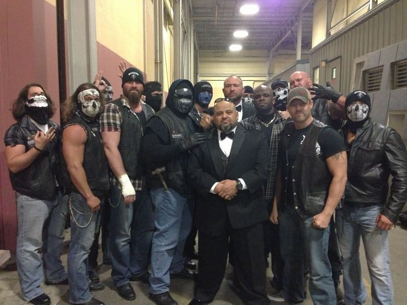 Mike Knox and the other members of the Aces & Eights faction