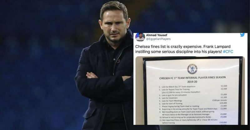 Chelsea manager Frank Lampard is a strict disciplinarian
