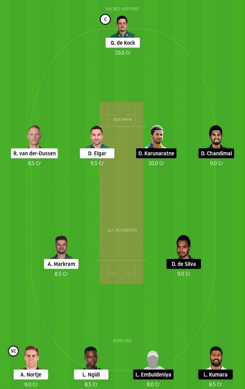 SA vs SL 1st Test Dream11 Tips
