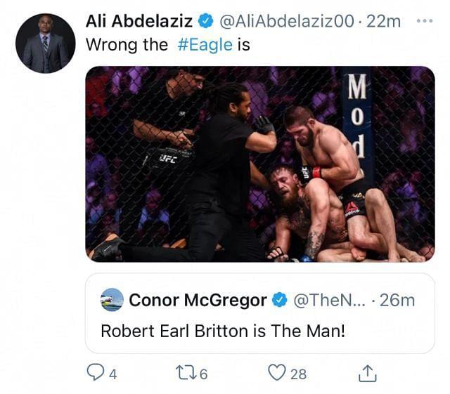 Conor McGregor provocation to Ali Abdelaziz