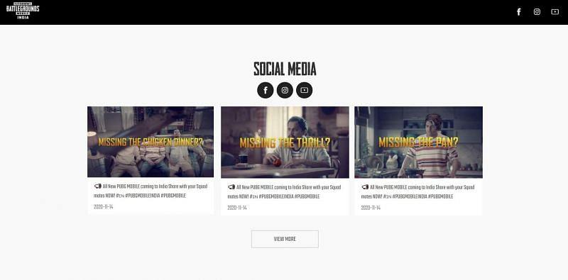 PUBG Mobile के भारतीय वर्जन की आधिकारिक वेबसाइट