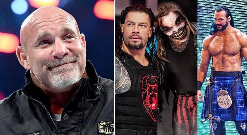 Goldberg; Roman Reigns, The Fiend, and Drew McIntyre