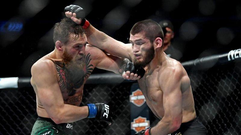 Conor McGregor (left); Khabib Nurmagomedov (right)