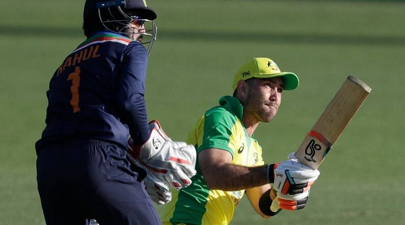 Indian keeper KL Rahul saw a more familiar version of Maxwell from the IPL this game.