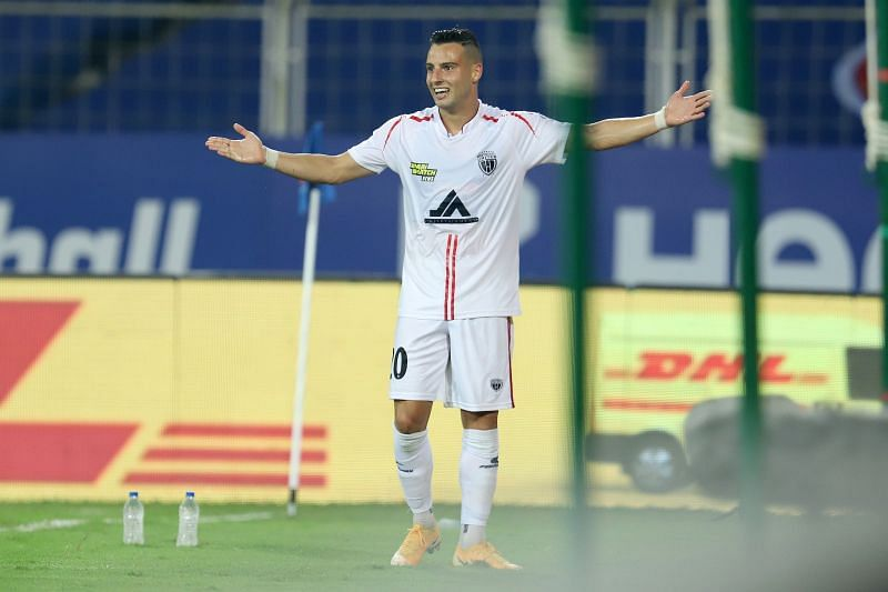 Luis Machado will be a key player for the NorthEast United FC in the left-wing. (Image: ISL)