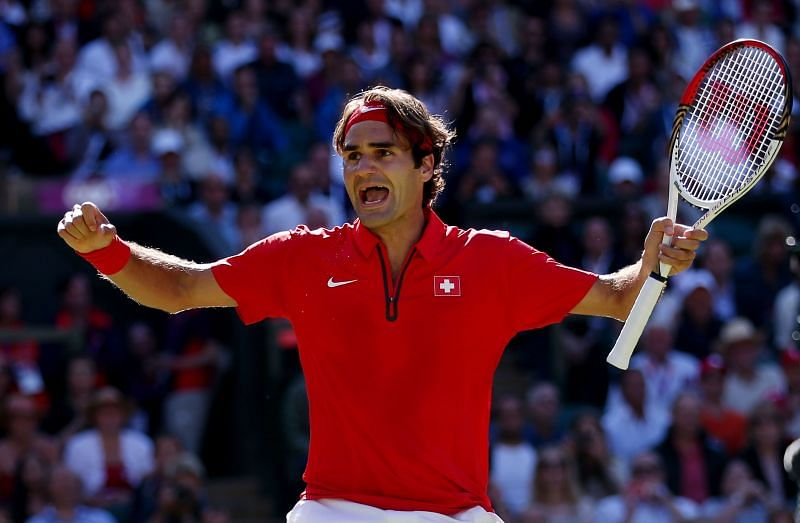 Roger Federer at the 2012 Olympics