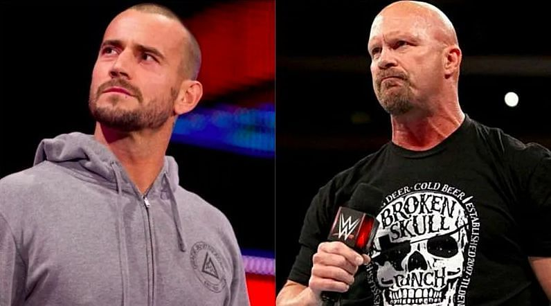 CM Punk (left); Stone Cold Steve Austin (right)