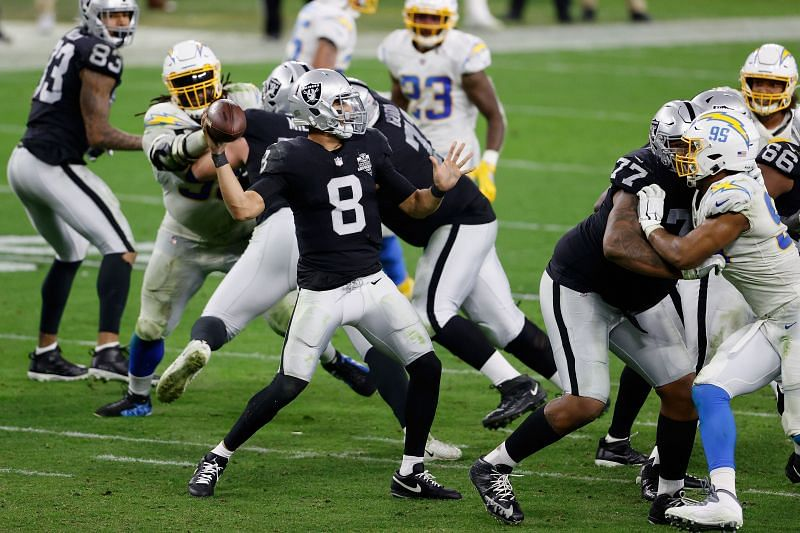 Las Vegas Raiders QB Marcus Mariota May Be Asked To Deliver A Crucial Win For The Team If Derek Carr Cannot Play