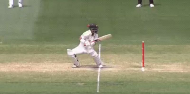 Matthew Wade being struck on the helmet. Pic: cricket.com.au/ Twitter