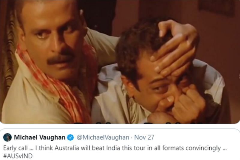 Wasim Jaffer trolled Michael Vaughan with this hilarious meme