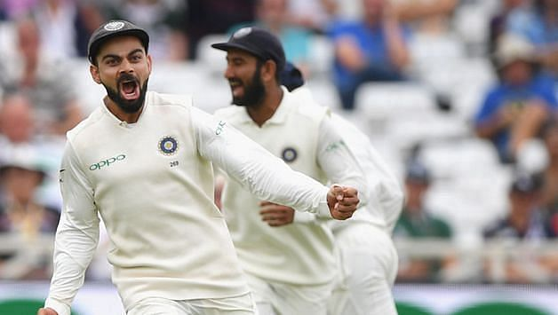 Virat Kohli is known for having an aggressive demeanor on the cricket field