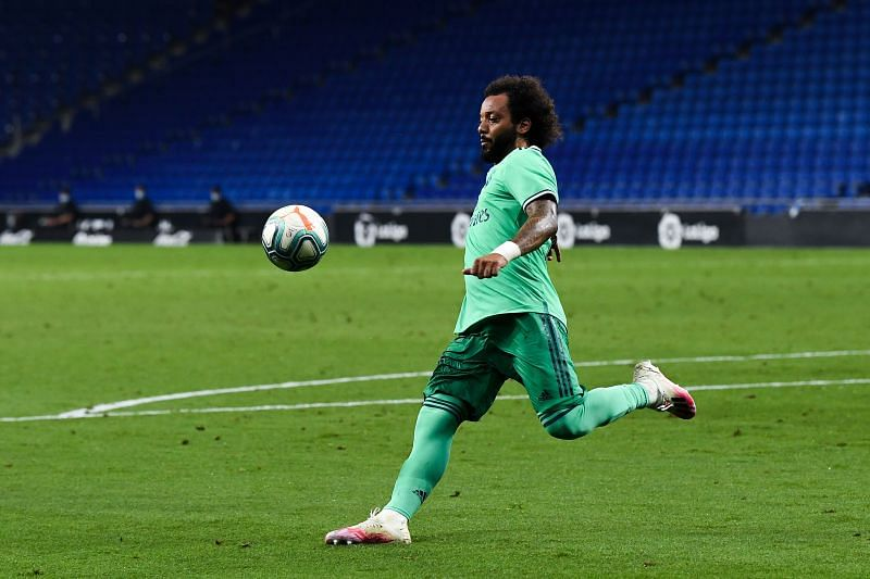 Marcelo in action for Real Madrid