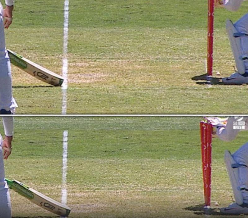 Tim Paine. Out or not out? Pic: Twitter
