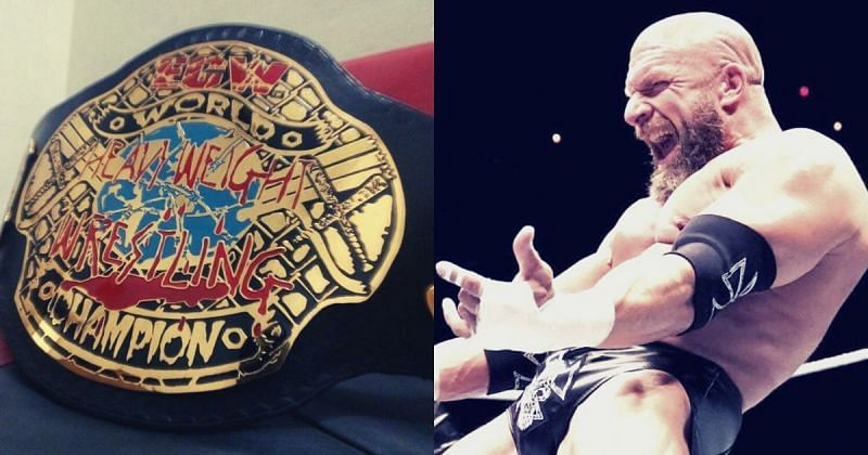 ECW World title and Triple H.