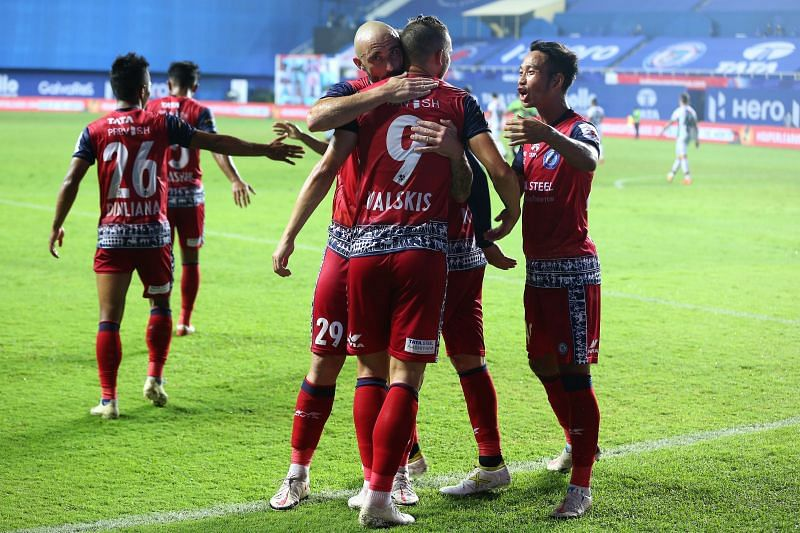 Jamshedpur FC put in a fantastic team performance to get their first win of the season. Courtesy: ISL