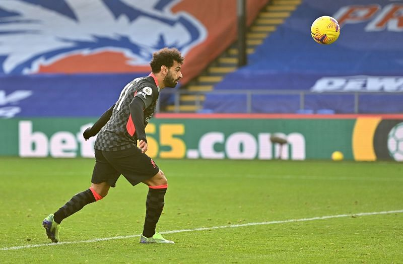Salah scored a brace off the bench against Crystal Palace