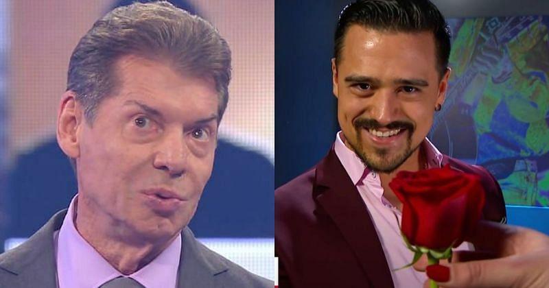 Vince McMahon and Angel Garza.