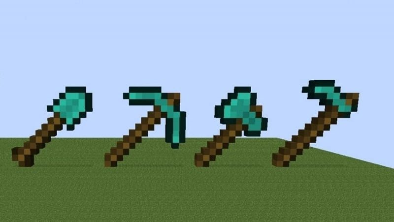 A collection of built diamond tools from Minecraft. (Image via planetminecraft.com)