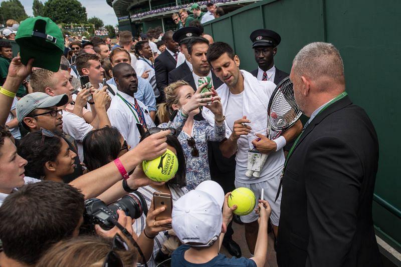 Novak Djokovic at The Championships - Wimbledon 2017