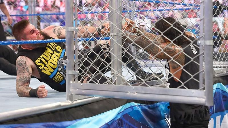 Roman Reigns and Kevin Owens locked horns on WWE SmackDown