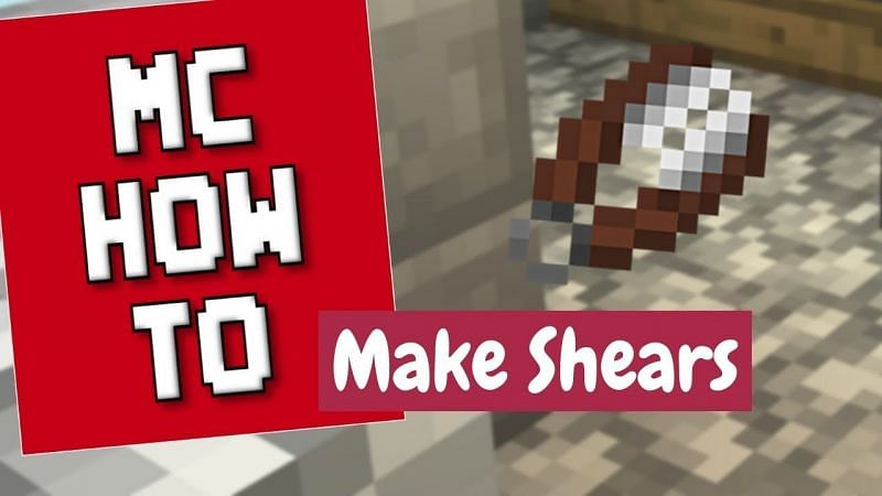 A brief guide on how to make and use shears in Minecraft (Image via Dreymasmith Dreams/YouTube)