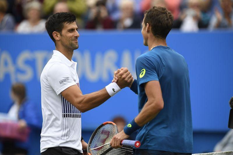 Novak Djokovic and Vasek Pospisil